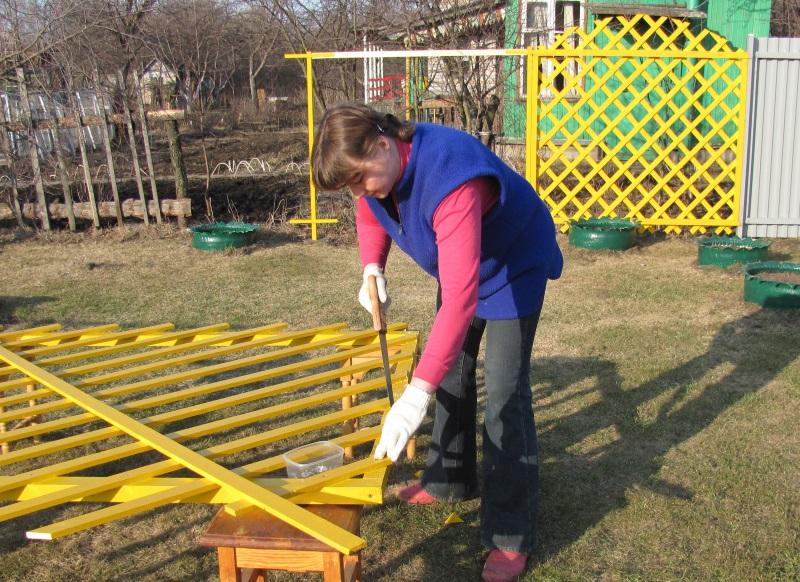 Как сделать заборчик из реек